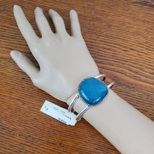 Lucky Brand Bracelet Turquoise Silver Cuff